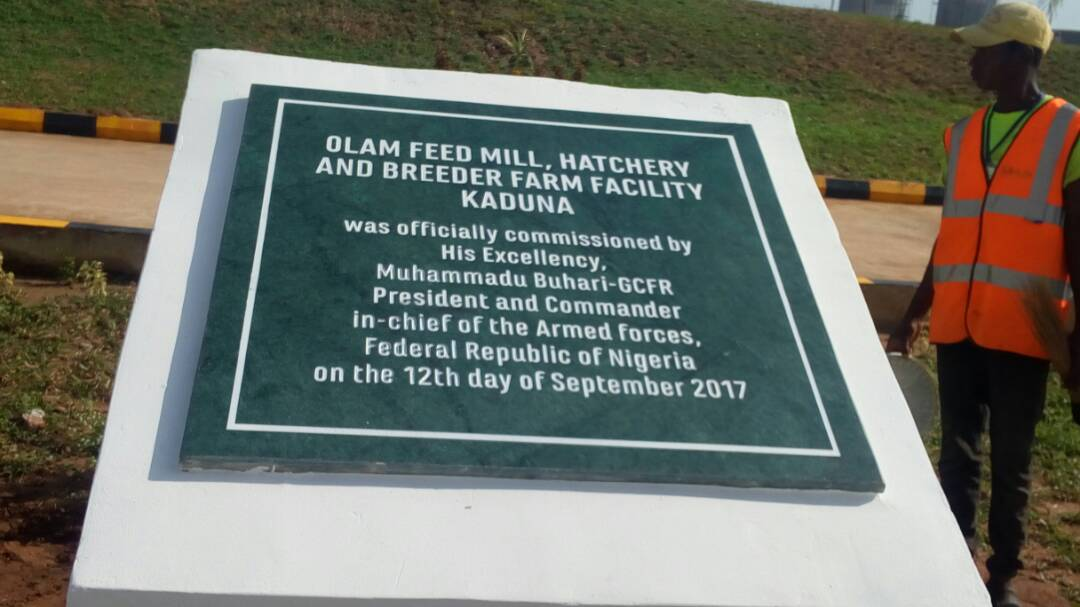 Image result for President Muhammadu Buhari recently commissioned a $150 million integrated feed mill, breeding farm, and hatchery in Kaduna State.