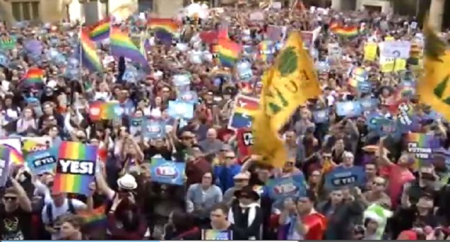 Sydneysiders Rally for Marriage Equality in the Largest LGBTQ Demonstration to Date