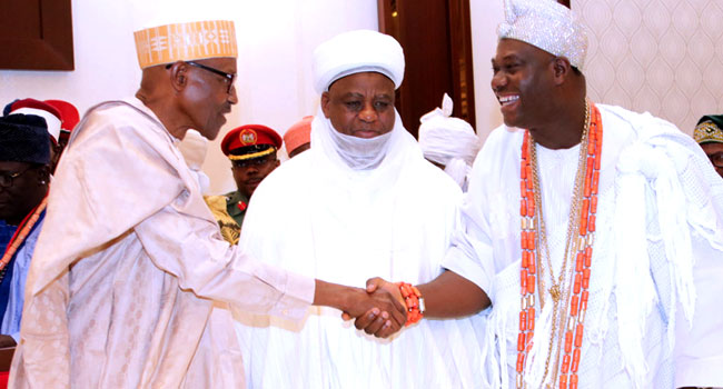 Buhari Meets With Traditional Rulers In Abuja