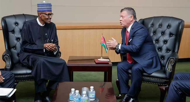 Buhari Thanks Jordan For Supporting Nigeria's War Against Terrorism