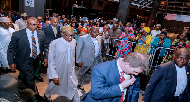 Buhari Arrives New York For UN General Assembly