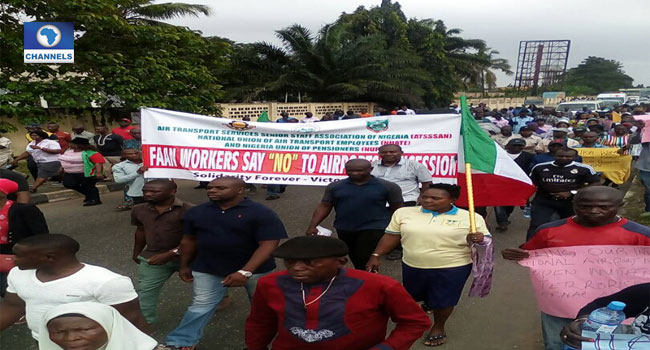 Airport Workers Protest Against Concession Of Airports