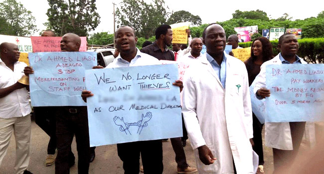 FMC Owo Resident Doctors Protest In Ondo