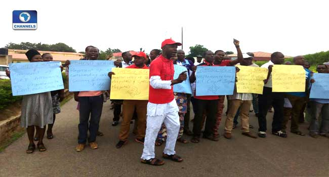 Health Workers Protest In Ondo Over Non-Payment Of Salary Arrears