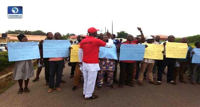 JOHESU Protests 'Illegal' Salary Deduction In FMC Owerri