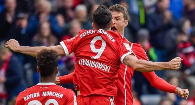Lewandowski Bags Brace In Bayern Munich Romp