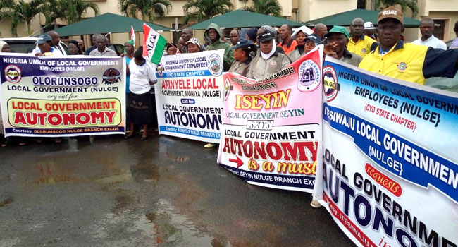 NULGE Protests In Oyo, Demand LG Autonomy