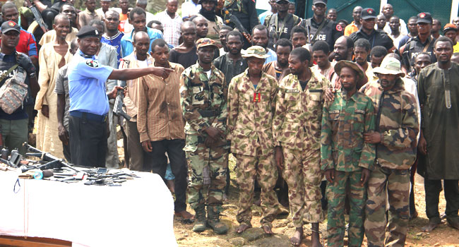 Police Parade Fake Soldiers, Others Terrorising Abuja–Kaduna Highway
