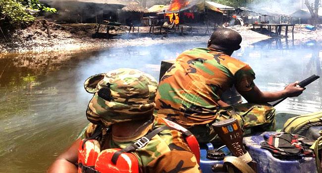 Troops Raid Oil Bunkering Sites In Rivers