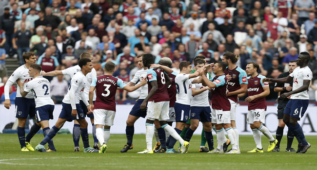 FA Charge West Ham, Spurs After Ugly Melee
