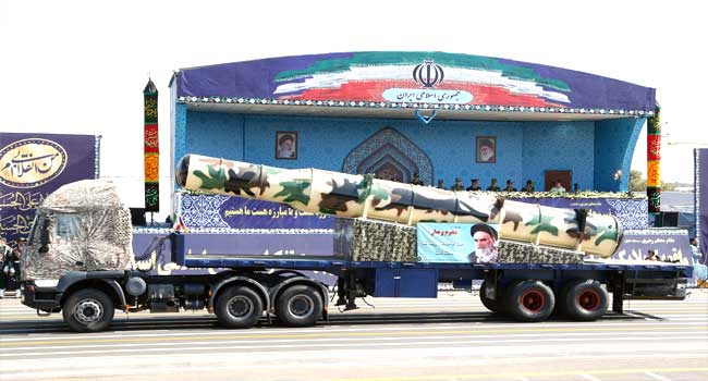 Iran Tests Ballistic Missile With 1200 Mile Range