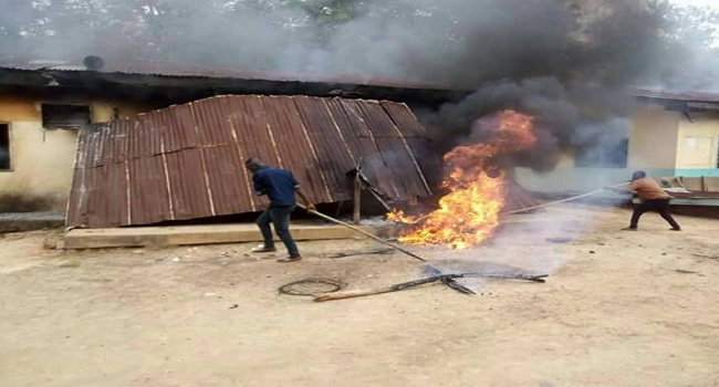 Navy Burns Down Illegal Training School, Arrests 28 In Benue