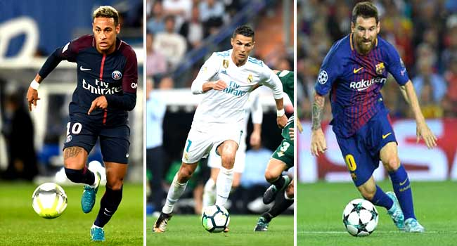 Neymar, Ronaldo, Messi On FIFA Best Player Shortlist