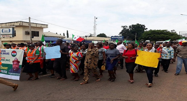 PHOTOS: NULGE And NLC Protest, Demand For Local Government Autonomy