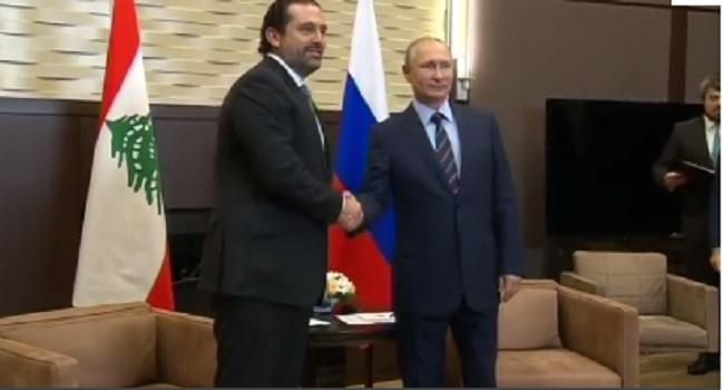 Putin Meets Lebanese Prime Minister, Discusses Bilateral Ties