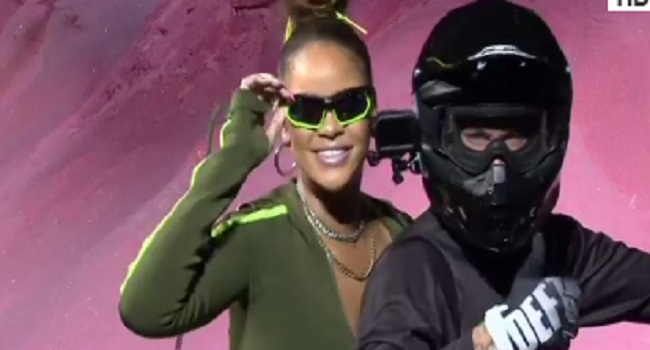 Rihanna Shows Off Motocross Riders In New York Fashion Week