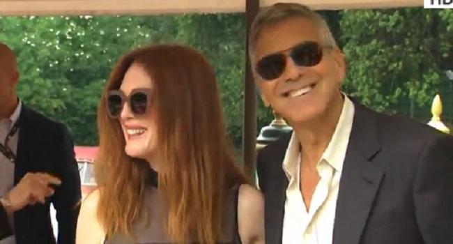 George Clooney, Julianne Moore, Matt Damon Arrive In Venice