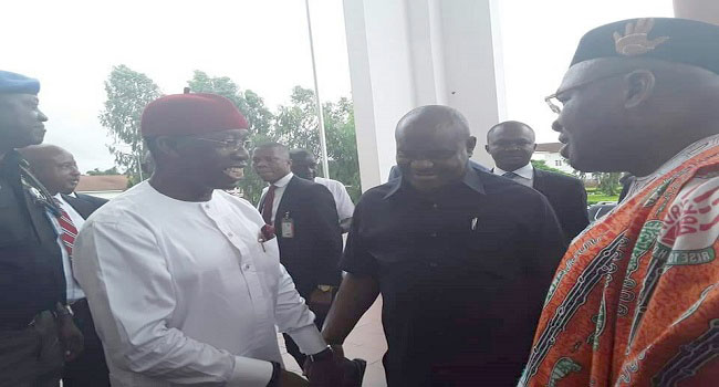 Okowa, Wike, Udom Meet To Discuss South-South Economic Growth