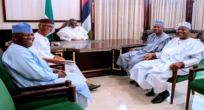 Buhari Meets With Tinubu, Saraki, APC Chieftains