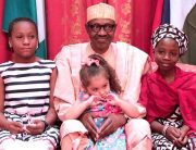 Buhari Receives Girl Who Donated To His Campaign, Others