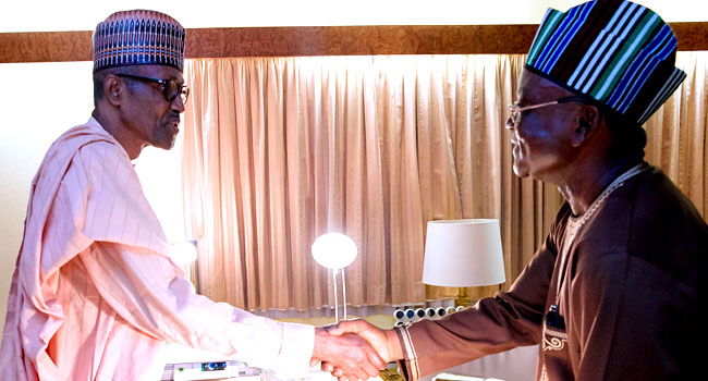 President Buhari Meets With Benue Governor, Ortom
