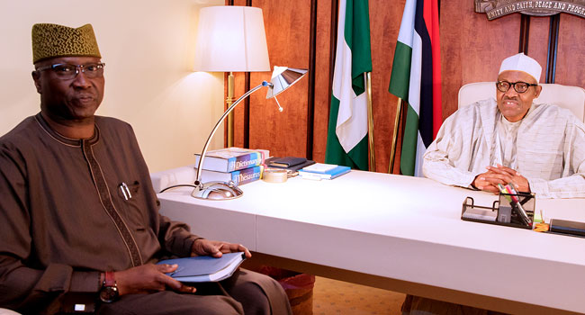 Buhari Holds Meeting With New SGF, Boss Mustapha