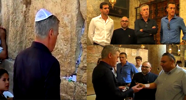 Former Bayern Munich Coach Ancelotti Tours Jerusalem Holy Sites