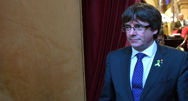 'Catalonia's Leader, Puigdemont In Brussels'