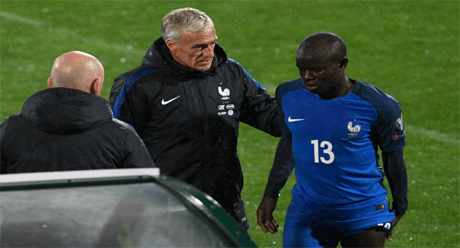 Chelsea's Kante Ruled Out For Three Weeks