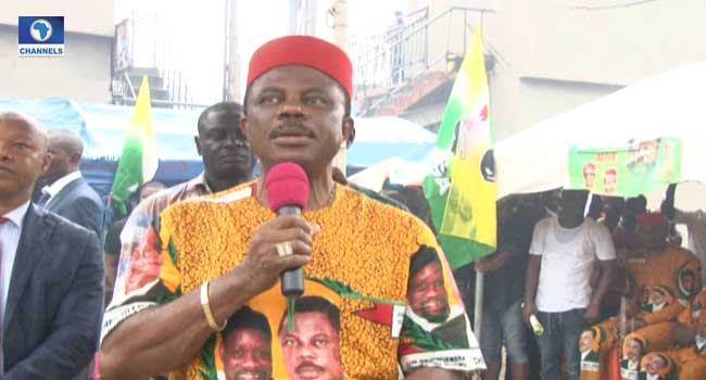 Obiano Takes Election Campaign To Anambra Business Owners In Lagos