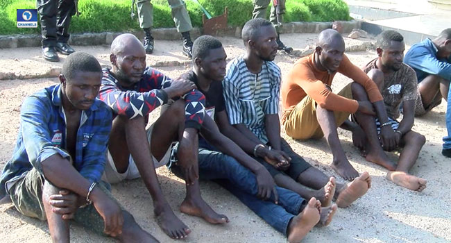 Two Policemen, Naval Officer Paraded For Armed Robbery, Kidnap