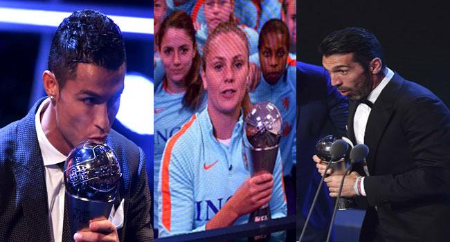 Ronaldo, Martens, Buffon, Others Triumph At FIFA Awards Ceremony