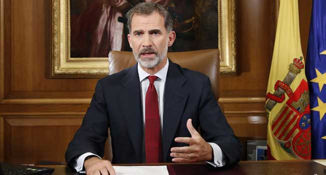 Spain's King Condemns Catalan Independence Bid