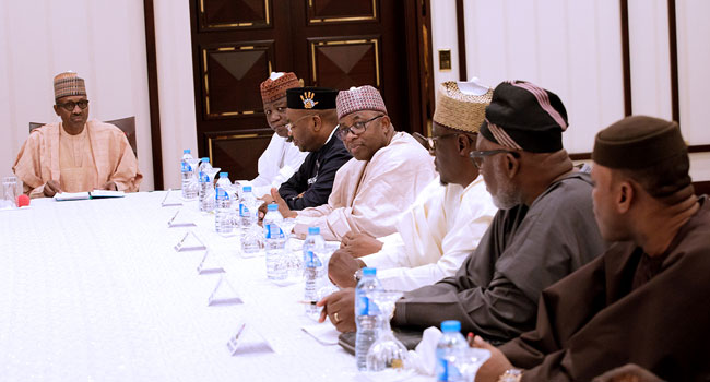 Buhari Discusses State's Welfare With Governors' Forum