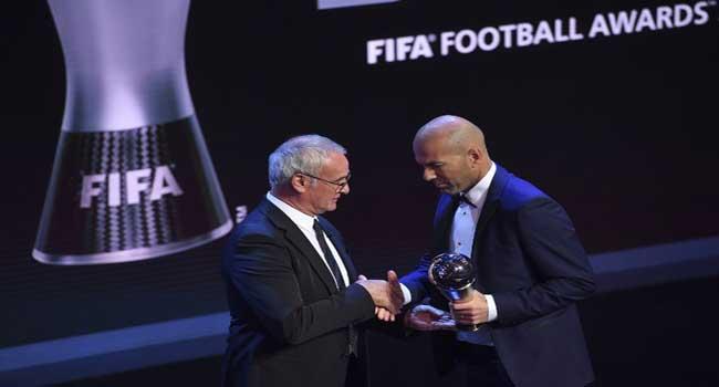 Zidane Wins FIFA Coach Of The Year Award