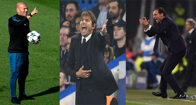 Zidane, Conte, Allegri, Shortlisted For 'FIFA Coach Of The Year'