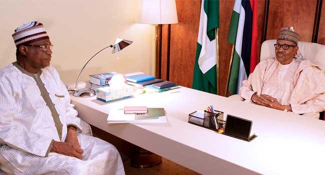 Geidam Visits Buhari, SaysNo Recent Boko Haram Attack In Yobe