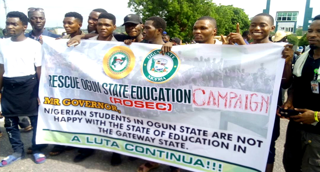 MAPOLY Students Protest In Ogun State
