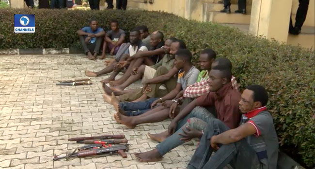 Police Parade 16 Suspects For Alleged Robbery, Car Snatching