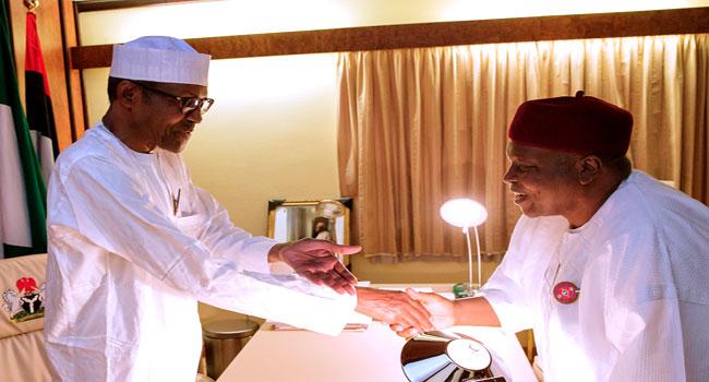 Taraba Governor, Ishaku Visits President Buhari