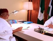 Buhari's Meeting With Ishaku In Photos