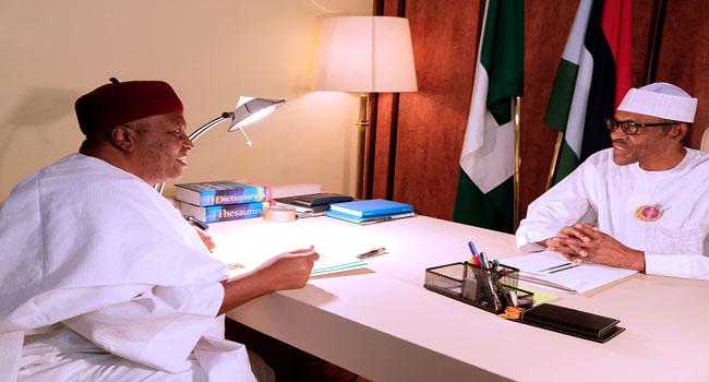 Buhari's Meeting With Ishaku In Photos