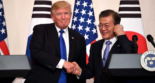 Trump, Moon Agree To Continue Talks With North Korea