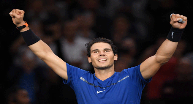 Nadal Seals Year-End Number One Ranking For 4th Time