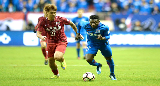 Obafemi Martins Nets Cracker As Shanghai Shenhua Win FA Cup