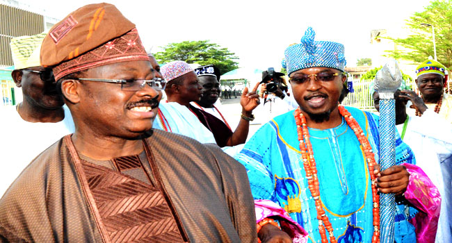 Ajimobi's Meeting With Oluwo In Photos