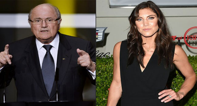Blatter Denies Grabbing Hope Solo's Backside