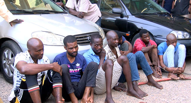 FCT Police Command Parades Robbery Suspects, Others
