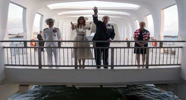 After Pearl Harbor, Trump Embarks On Asia Tour