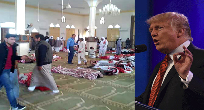 Trump Condemns 'Horrible And Cowardly' Mosque Attack In Egypt